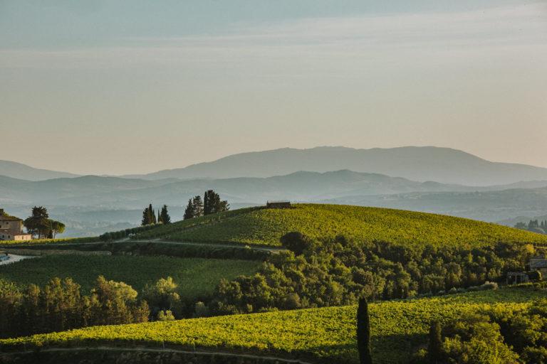 fotografia di paesaggio nei pressi del Castello di Monsanto nel cuore del Chianti classico